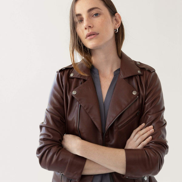Vegan Leather Moto - THERESET