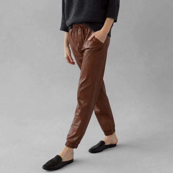 Vegan Leather Jogger - THERESET