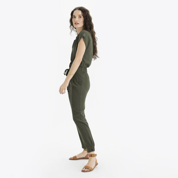 Short Sleeve Tunic Jumpsuit - THERESET