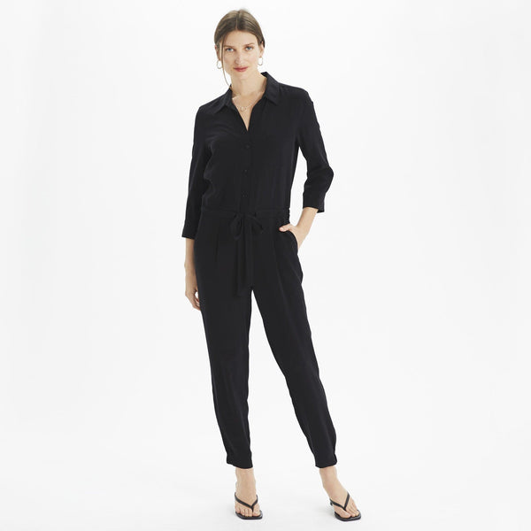 The Reset Dress Silk ¾ Sleeve Jumpsuit