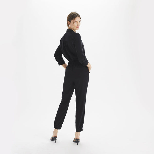 Silk ¾ Sleeve Jumpsuit - THERESET