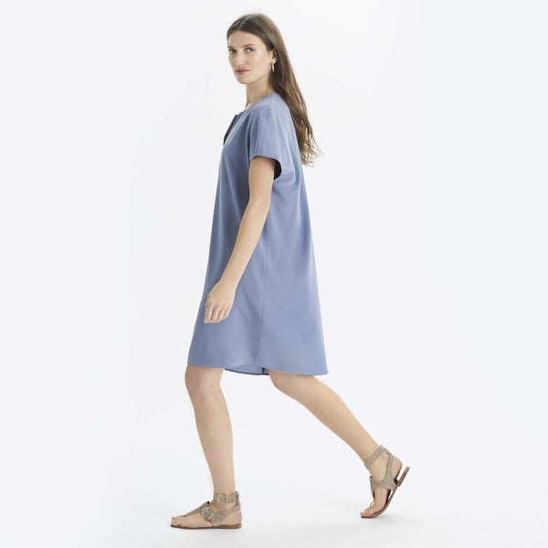 Silk V Tunic Dress - THERESET