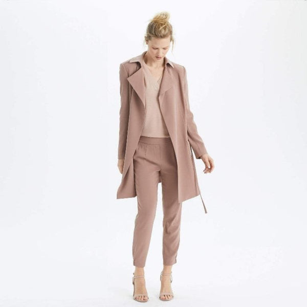 The Reset Jackets Desert Sand / XS Modern Midi Trench