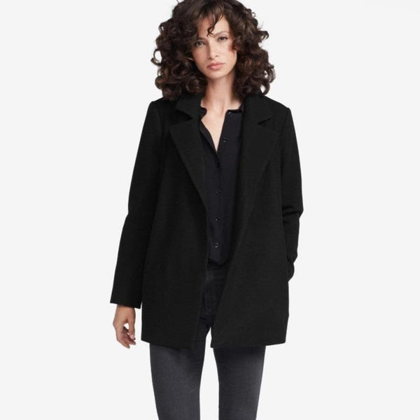 The Reset sale Black / XS Boyfriend Coat