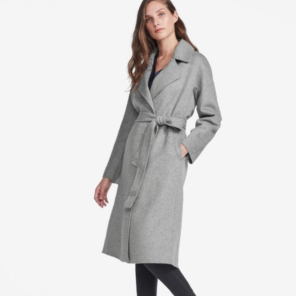 The Reset sale Med Heather Grey / XS Double Faced Tie Coat