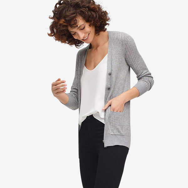 The Reset sale Ribbed Pocket Cardigan