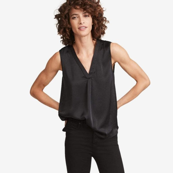 The Reset sale Black / XS Satin V Tank