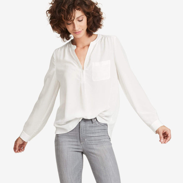 The Reset sale Ivory / M Silk Pocket Tunic