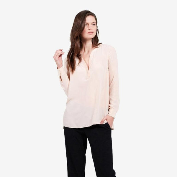 The Reset sale Blush / XS Silk Tunic