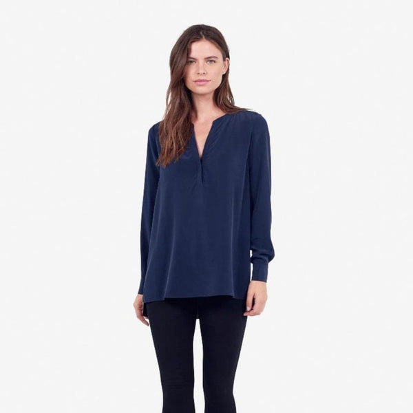 The Reset sale Navy / XS Silk Tunic