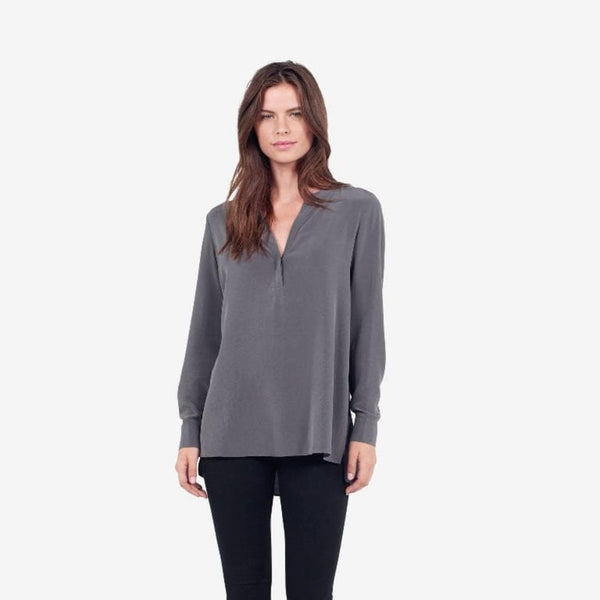 The Reset sale Smoke Grey / XS Silk Tunic