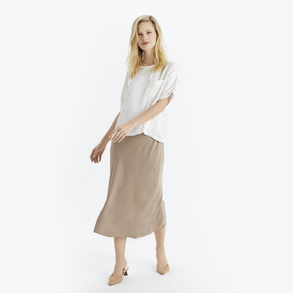 Satin Midi Skirt - THERESET