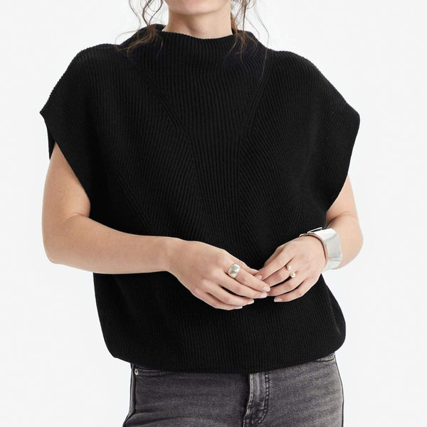 The Reset Sweaters Cap Sleeve Sweater