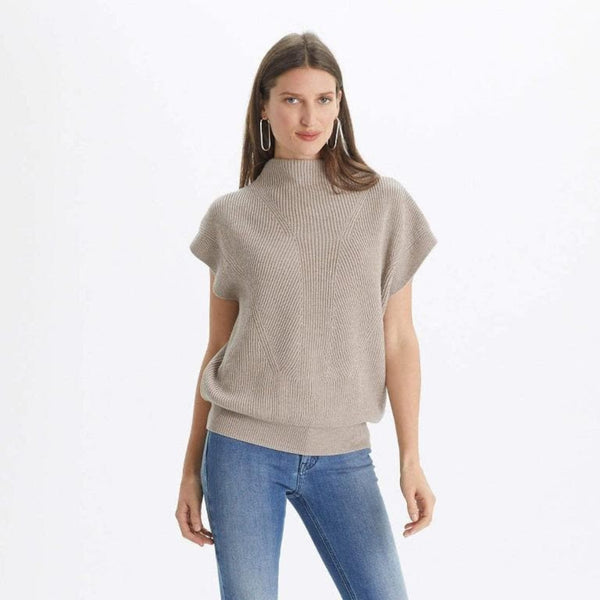 The Reset Sweaters Heather Sand / XS Cap Sleeve Sweater