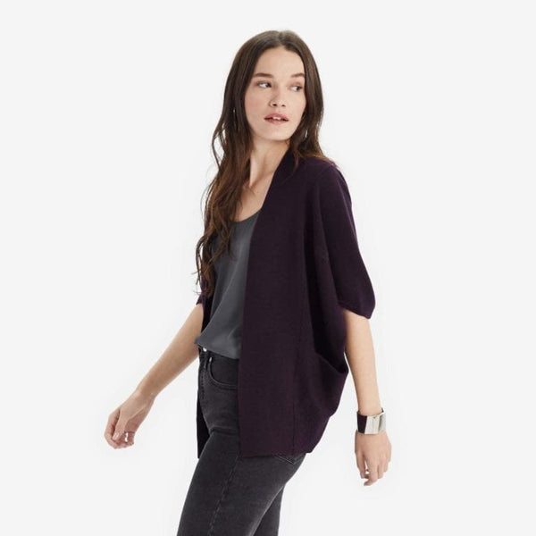 The Reset Sweaters Plum / S/M Short Cocoon