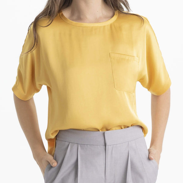 Satin Pocket Tee - THERESET