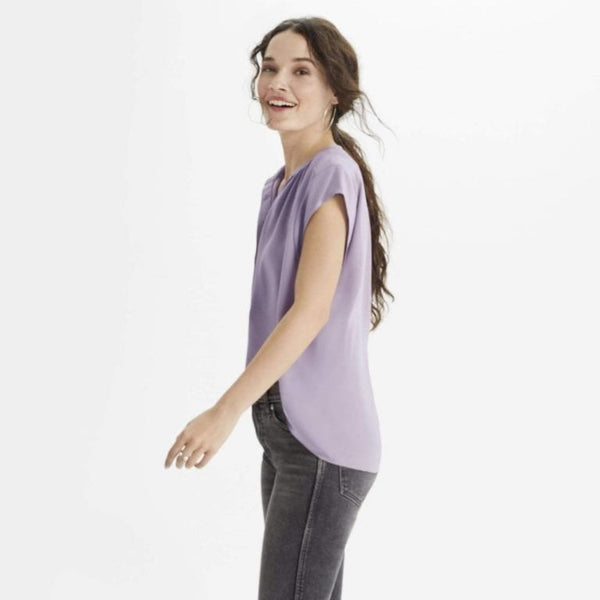 The Reset Tops Orchid / XS Silk Cap Sleeve Tunic