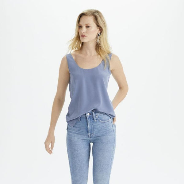 The Reset Tops Coastal Blue / XS Silk Shell