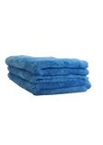 "Bull Shine Plush No Edge Microfiber Towel - Blue, 16""x24"" (3 pack)"