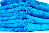 "Bull Shine Plush No Edge Microfiber Towel - Blue, 16""x16"" (5 pack)"