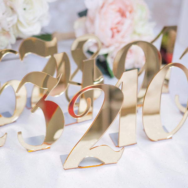Acrylic Bent Table Numbers