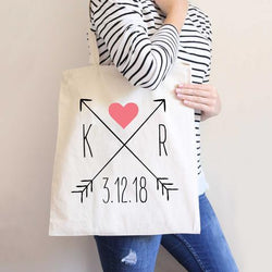 Arrow Wedding Tote Bag