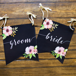 Wedding Banner Chair Signs