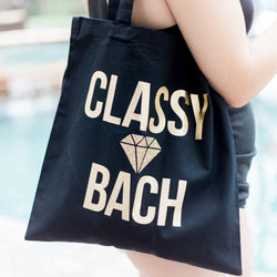 "Bachelorette Tote Bag ""Classy Bach"" - Wedding and Gifts"