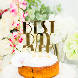 Cake Topper Gatsby Style Best Day Ever - Wedding and Gifts