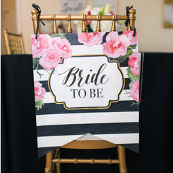 Shower Chair Sign for Bridal or Baby Shower