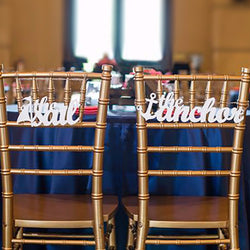 Anchor & Sail Chair Signs