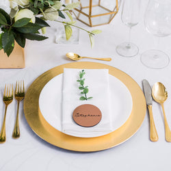 Copper Wedding Place Cards