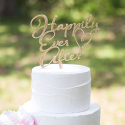 "Fairytale Cake Topper ""Happily Ever After "" - Wedding and Gifts"