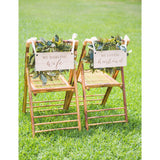 Darling Wife, Loving Husband Chair Signs