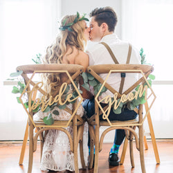Geometric Wedding Chair Signs