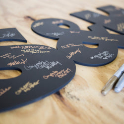 singable letters, wedding guestbook, signable wedding guestbook