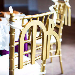 1920s Gatsby Style Wedding Chair Signs