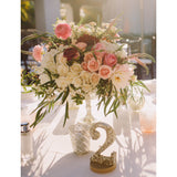 wedding table numbers, reception ideas, wedding decor