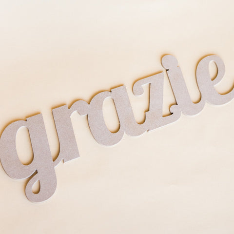 Grazie Sign Italian Thank You - Wedding and Gifts