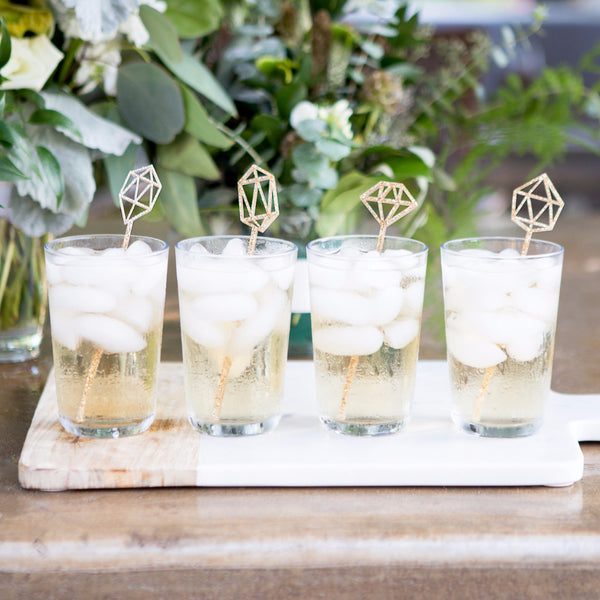 Gemstone Glitter Swizzle Sticks - Wedding and Gifts