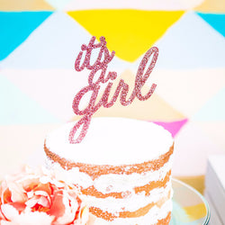 It's a Girl Cake Topper for Baby Shower - Wedding and Gifts