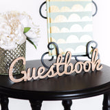 Guestbook Word Cutout for Wedding or Party - Wedding and Gifts