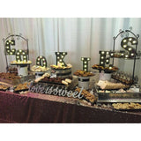 candy table, candy bar, reception decor
