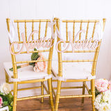 """Novia"" and ""Novio"" Chair Signs - Wedding and Gifts"