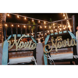 """Novia"" and ""Novio"" Chair Signs"