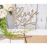 "Standing Guestbook Table Sign ""Please Sign"""