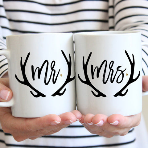 Boho Mr & Mrs Mugs