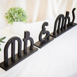 Gatsby Art Deco Wedding Signs - Mr and Mrs