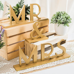 Mr & Mrs Wedding Signs Gatsby Style