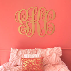 Extra Large Script Monogram for Wall